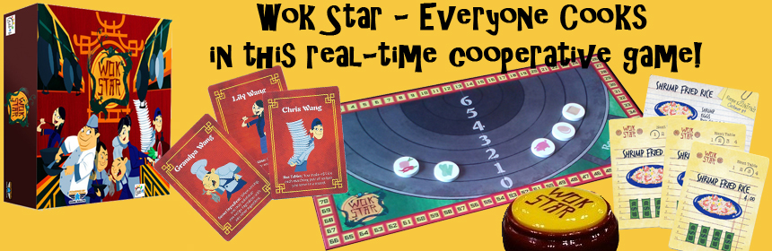 Wok Star - Everyone Cooks in this real-time cooperative board game!