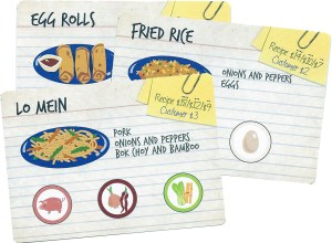 Wok Star Recipe Cards: Egg Rolls, Fried Rice and Lo Mein