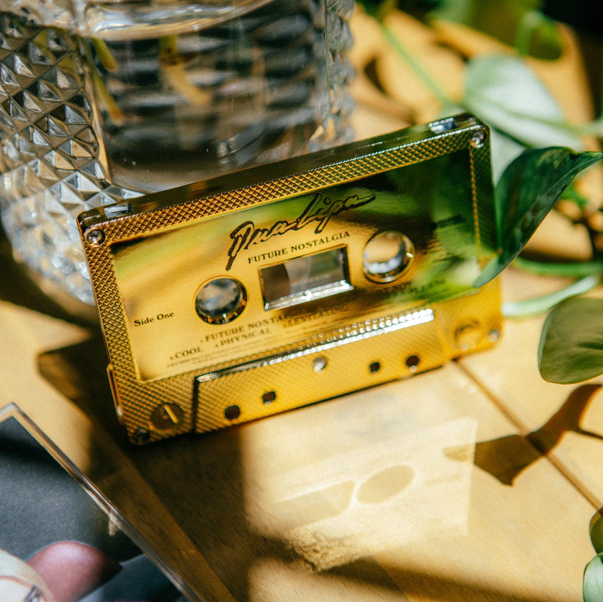 Dua Lipa Future Nostalgia Gold Cassette