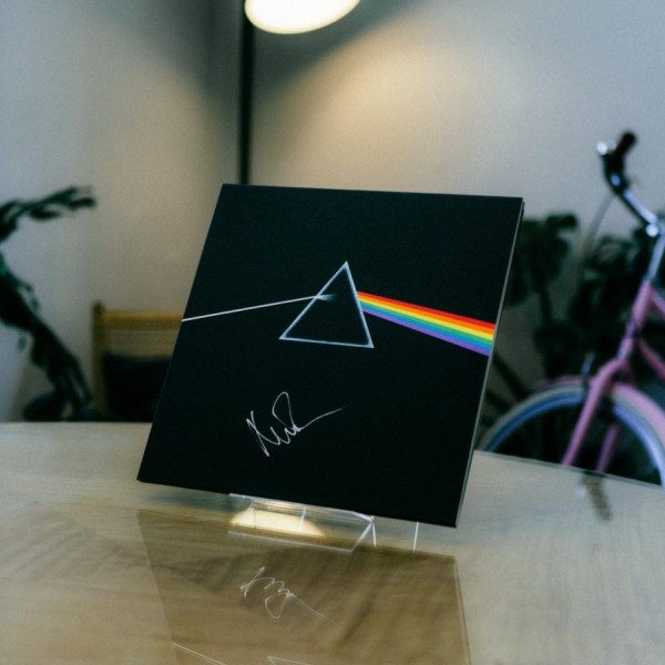Pink Floyd Dark Side of the Moon Signed by Nick Mason The Glitter and Gold