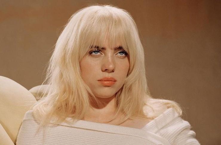 Billie Eilish 2021 blonde promotional image