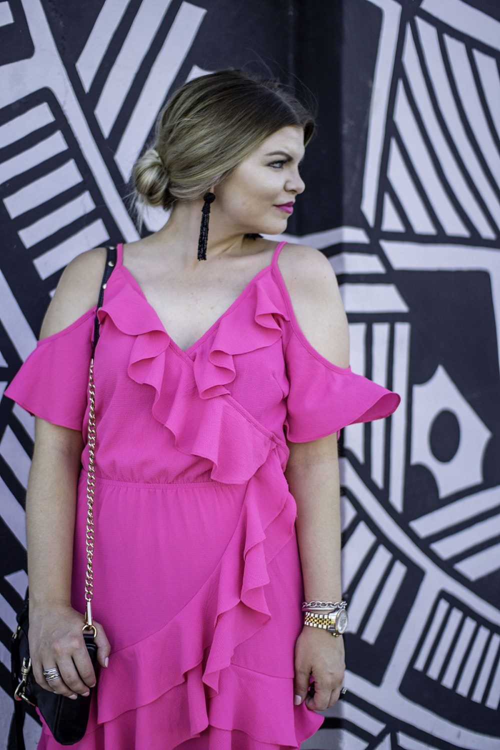 Colorful Cold Shoulder Dress: Spicing Up Your Summer Wardrobe with Pops of Color by TN fashion blogger The Glitter Gospel