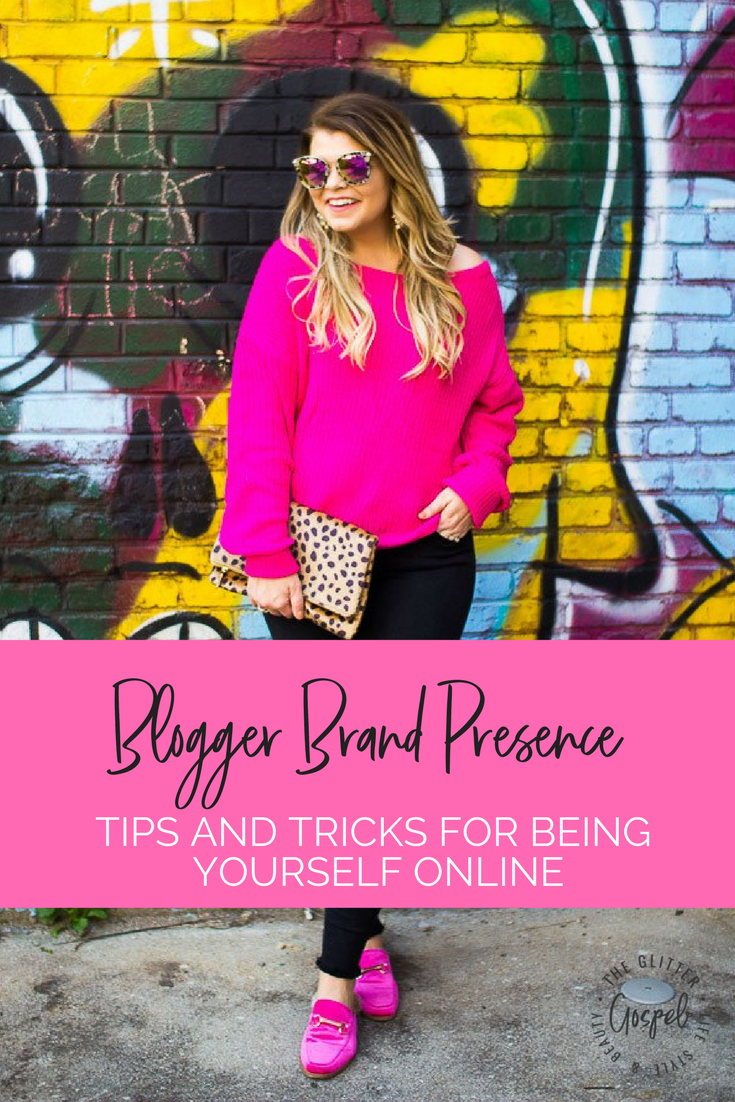 Lacey Anne Douthat of The Glitter Gospel shares her thoughts on blogger transparency and how to be yourself online. Part of the Blogger 101 Series. Blogger resources, blogger voice, how to be a blogger, pink sweater, pink faux fur slides, diff eyewear