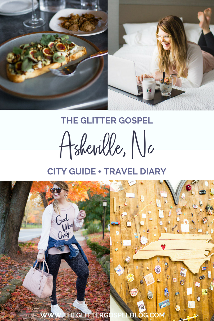 Asheville, NC city guide. The Glitter Gospel, City Guide, Asheville, NC, Travel guide, AC Hotel Asheville, Sovereign Remedies Asheville, Tupelo Honey Cafe, New Belgium Brewing Company, White Duck Taco, Omni Grove Park Inn