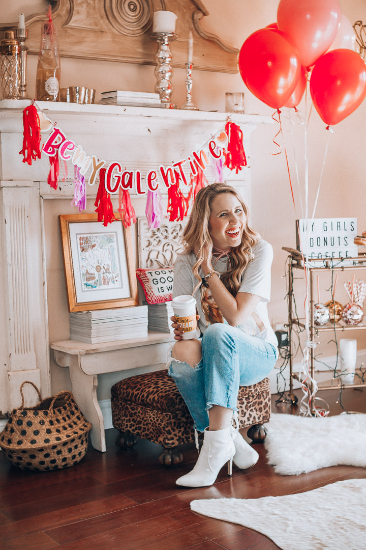 Showing you how to do Galentine's Right with my girl Katie from Pearls and Twirls. Friendships are worth celebrating and so are donuts!