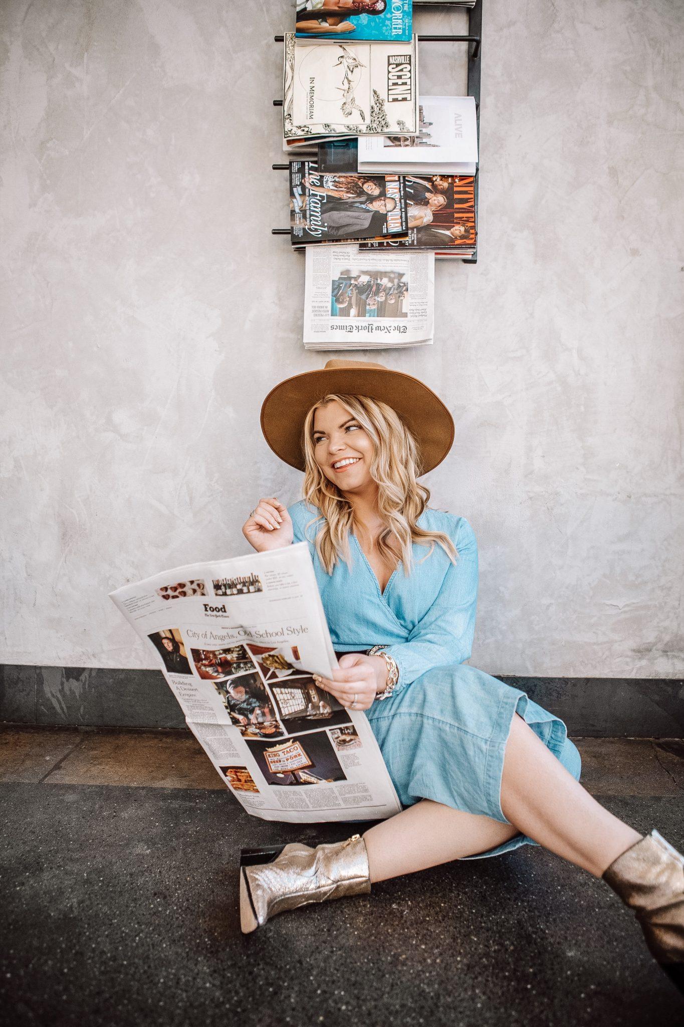 Popular Tennessee Life + Style Blogger, The Glitter Gospel shares her new blog design and tips for trying new things. Blog design, Tennessee Blogger, Nashville blogger, Cafe Roze, East Nashville.