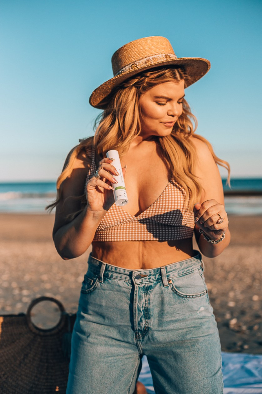 Lacey Anne Douthat from The Glitter Gospel blog shares her experience using the Rodan and Fields Soothe Line. Skincare routine, eczema treatment, skincare routine, aftersun care.