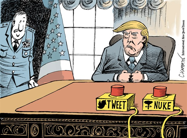 Image result for trump nuke cartoon