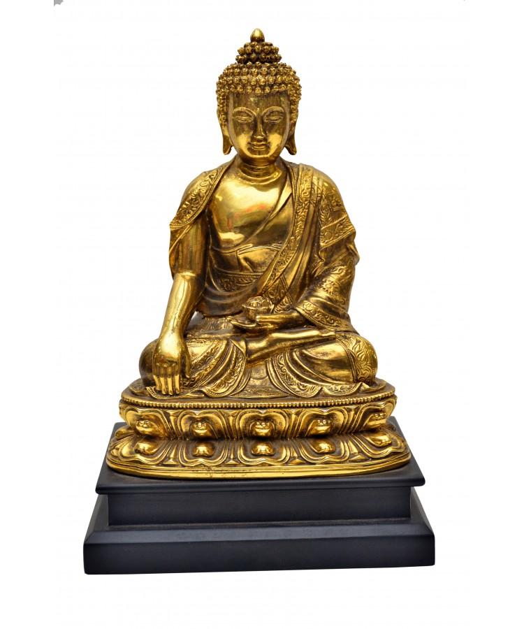 Lord Buddha Handicraft Idol God Gautam Buddha Statue Feng Shui Decorative Spiritual Puja Vastu Showpiece Figurine Religious Gift Item Murti For Mandir Temple Home Decor Office Global Artisans