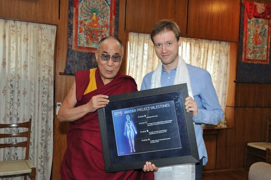 Dalai Lama met with Dmitry Itskov earlier this year.