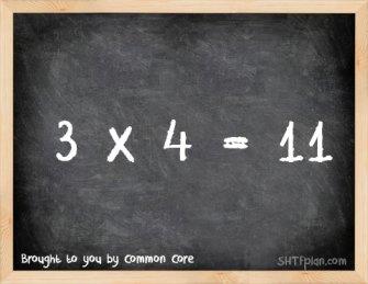 """The New Common Core Obama Math Standard: """"3 x 4 = 11″"""