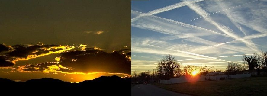 Then and Now The Sky Before and After Chemtrails
