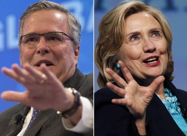 Jeb-Bush-Hillary-Clinton-2016-election