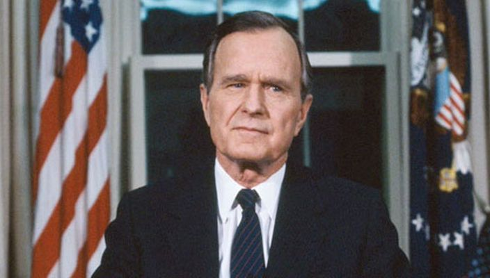 George Bush, former U.S. President, appointed Knight Grand Cross of the Most Honourable Order of the Bath by H.M. Queen Elizabeth.