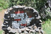 The coolest sign - for smart elephants