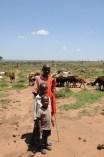 Masai kids - the happy trio