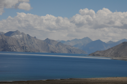 Pangong Tso Lake - deep blue colors