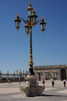Royal Palace - gilded lamppost