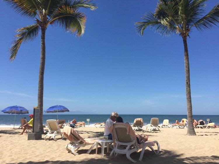 sandy beach in Puerto Vallarta