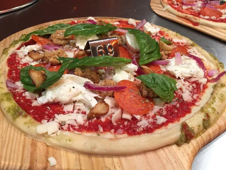 uncooked pizza