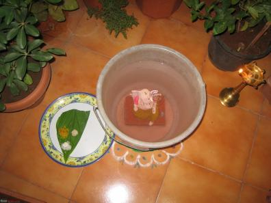 Private immersion of Ganesha idol