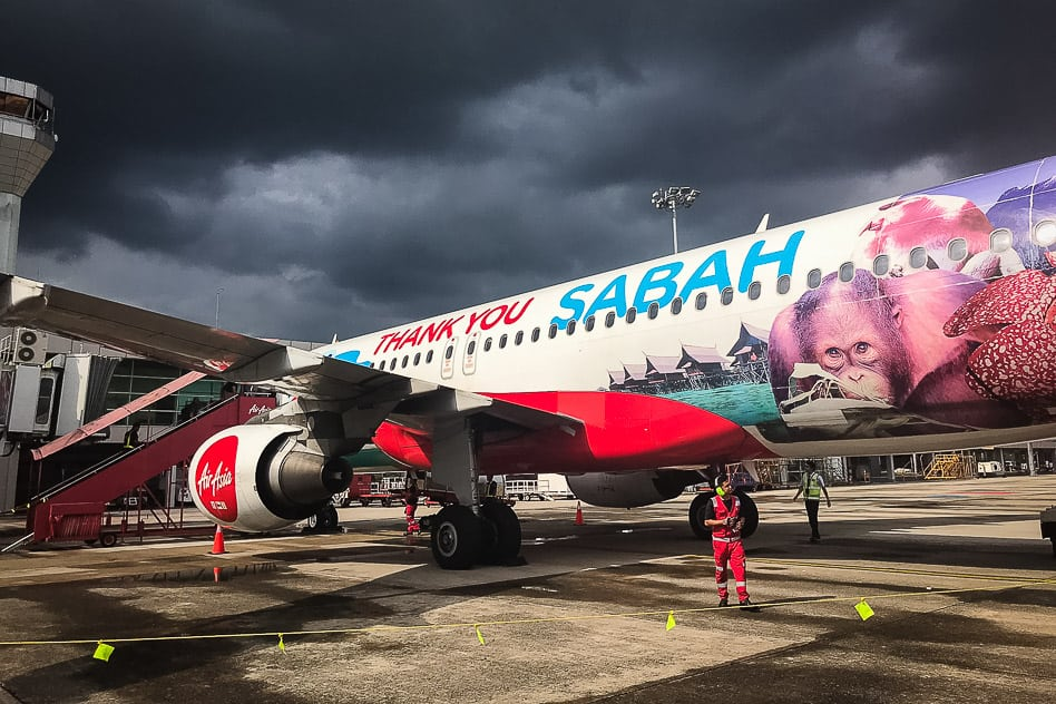 Air Asia Malaysia Sabah Kuching Kota Kinabalu
