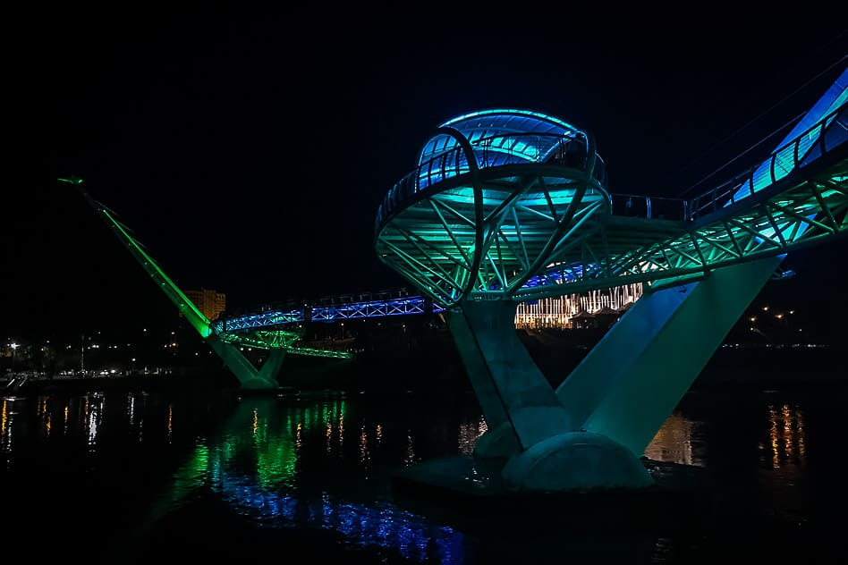 Kuching Bridge Colour Night Borneo
