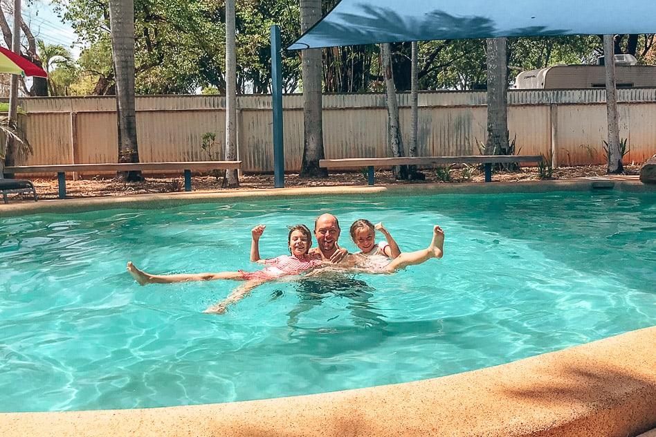 Riverview pool heat camping Katherine Australia