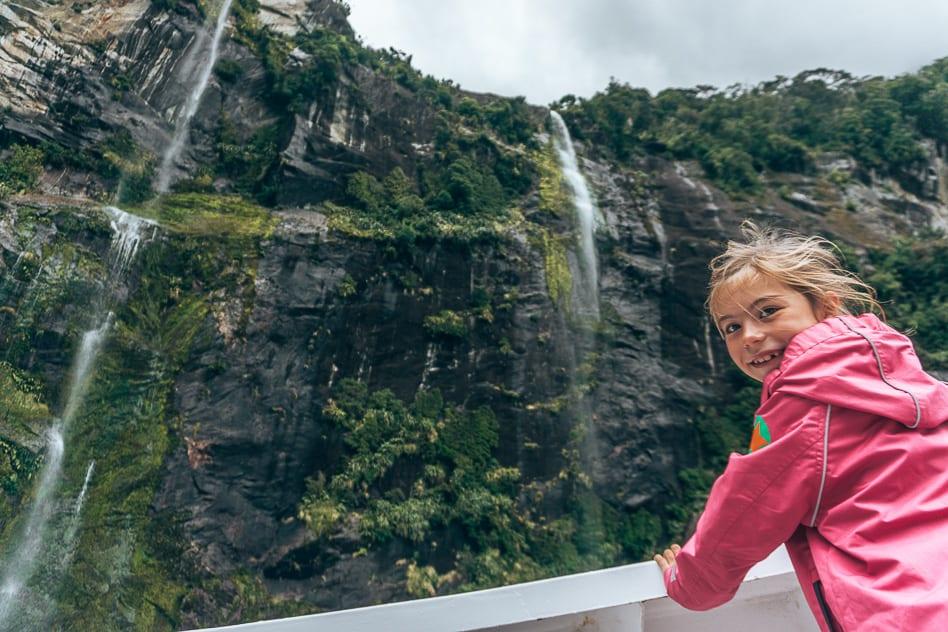 Waterfalls Cruise Milford Sound Nature New Zealand