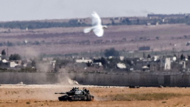 Turkey drove out ISIS militants from its border, sealing the 57-mile territory with Syria. Photo credit: AFP