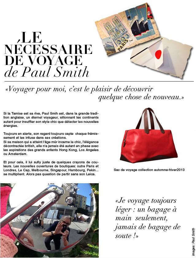 Le nécessaire de voyage de Paul smith