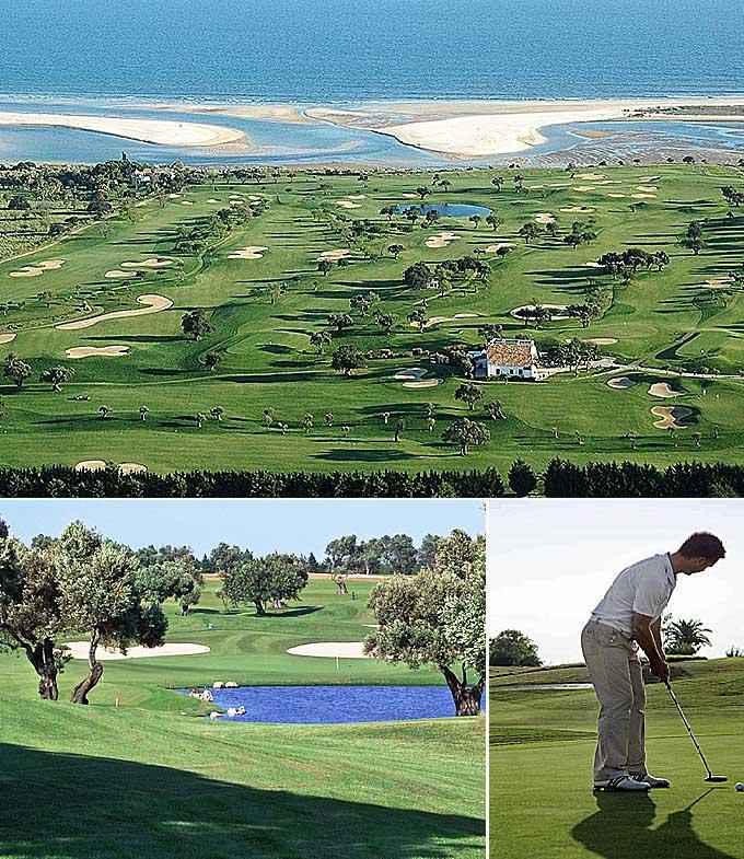 Trois parcours golf en Algarve