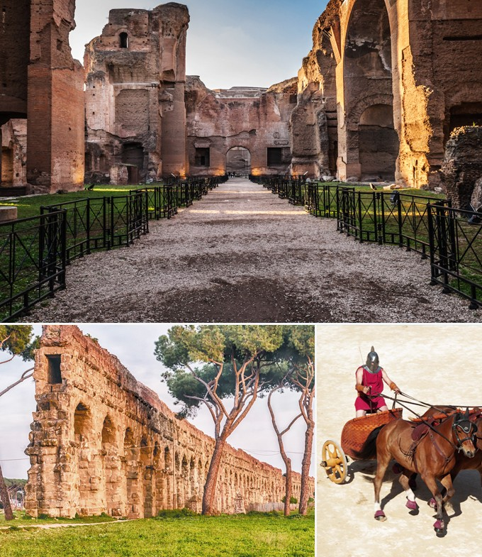 Thermes de Caracalla rome italie a faire