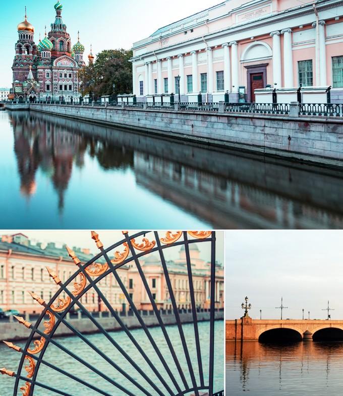 Russie StPetersbourg Promenade sur les canaux