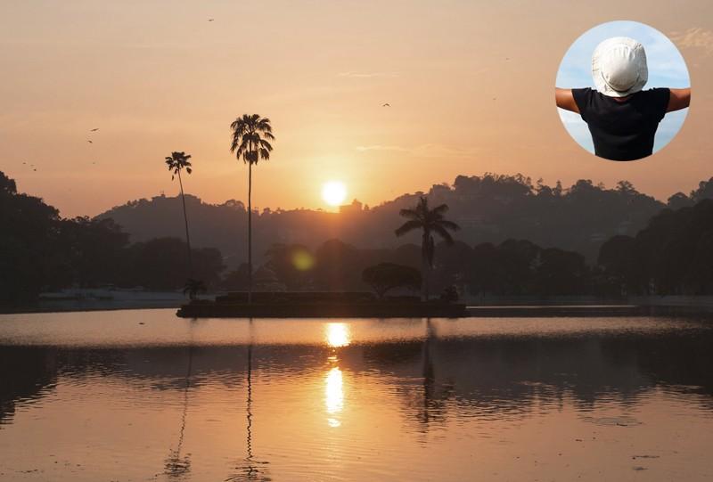 Kandy Lake coucher soleil Sri Lanka a voir