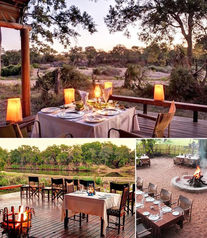 Simbavati River lodge restaurant Parc Kruger Mozambique