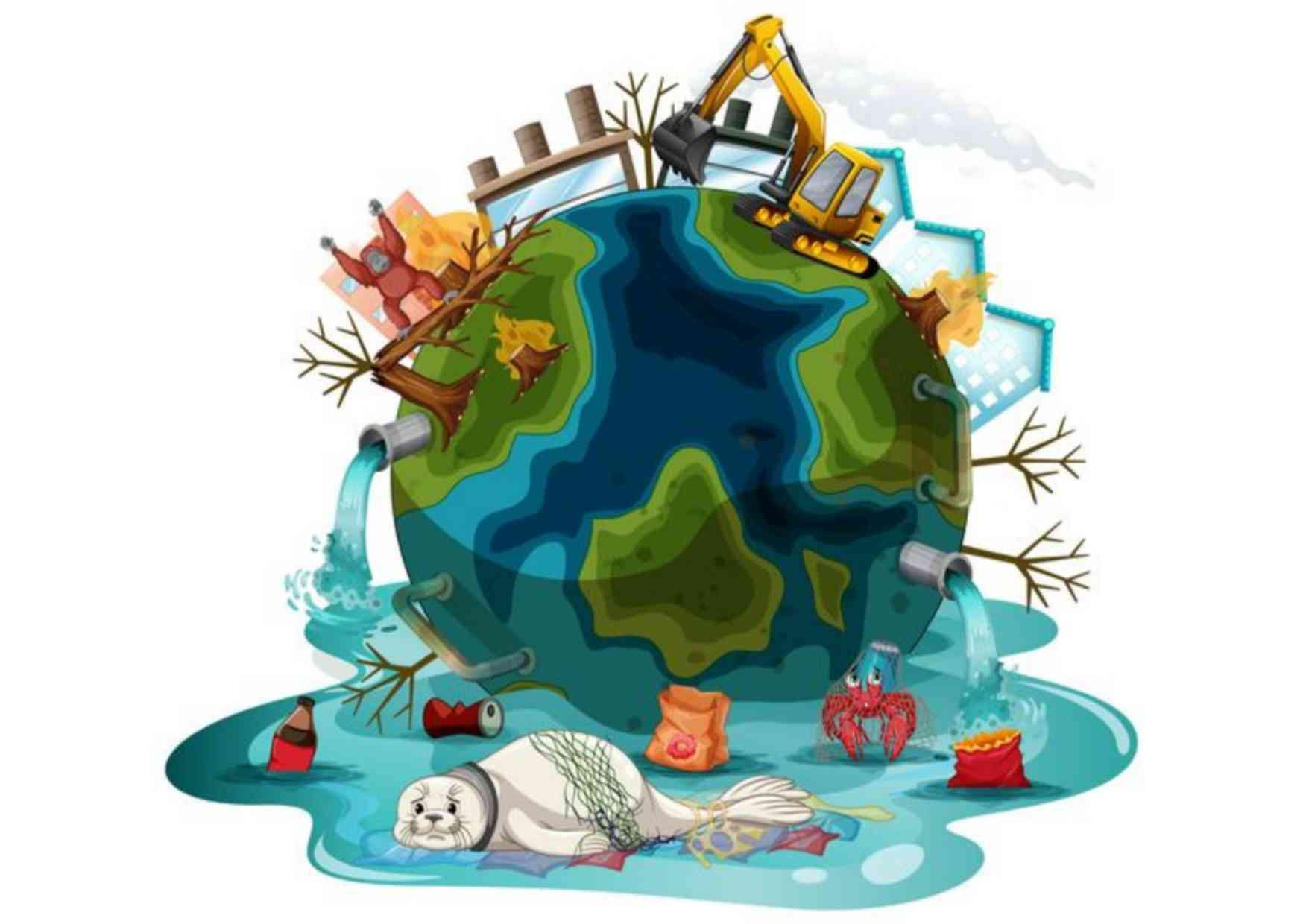 What are the 7 major Global environmental problems?