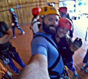 My first time ziplining