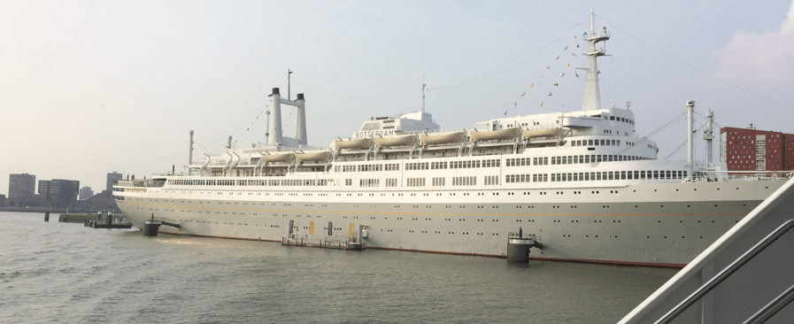 SS Rotterdam in Rotterdam harbor. Photo: M. Trueblood