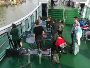 Erasmus professors and staff explain harbor features to the GLOCAL students. Photo: E. Stepanova