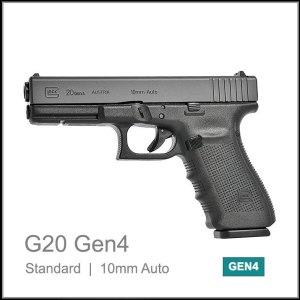 Glock 20 Gen 4 10mm auto semi auto pistol