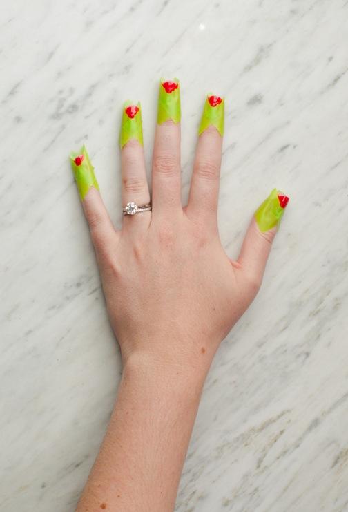 triangle nail art 2