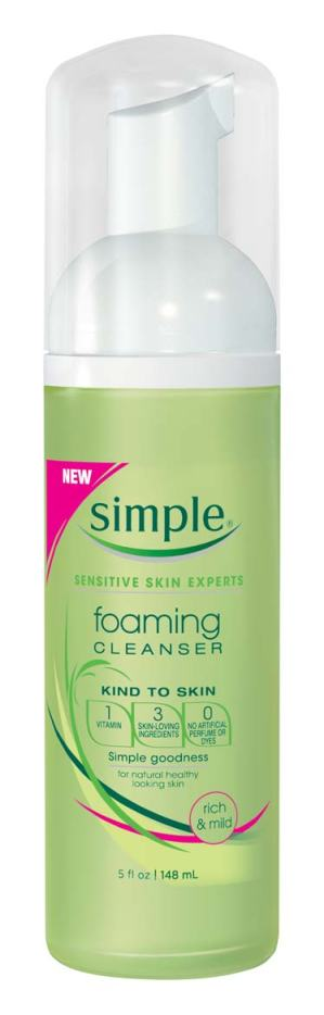 simple foaming cleanser