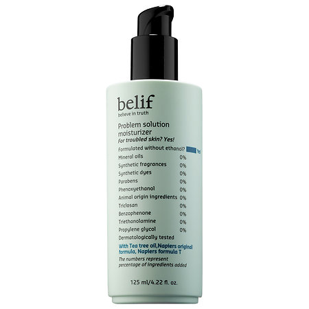 belif problem solution moisturizer