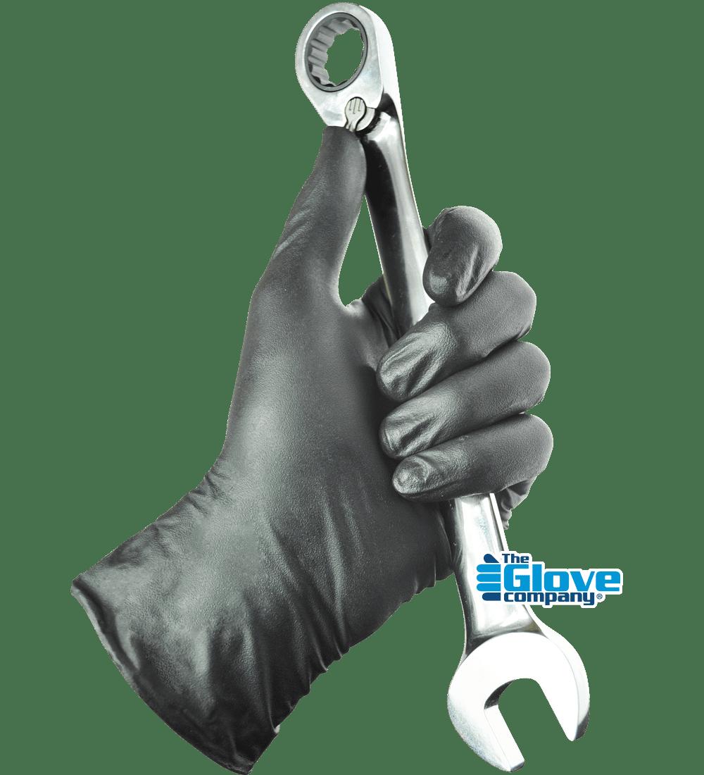 Black Rocket Glove holding shifter