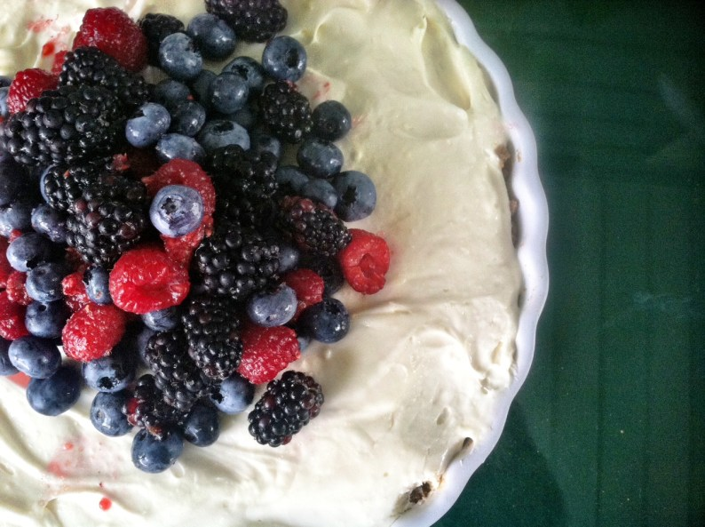 Red White Blue No-Bake Cheesecake
