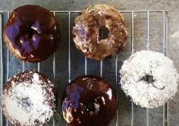 Chocolate Chai Glazed donuts