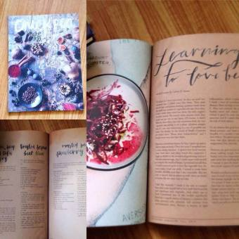 My first published feature in a national magazine Chickpea