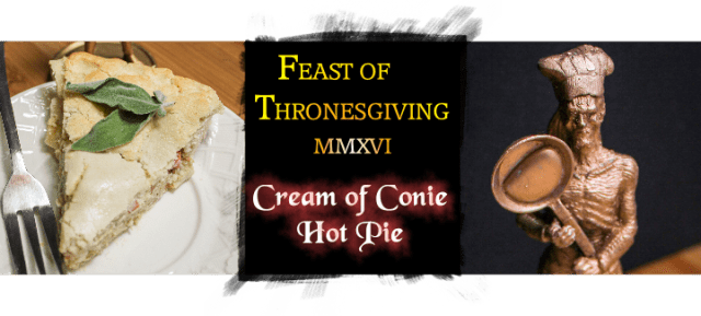 Creamy Rabbit Hot Pie inspired by Game of Thrones and the Song of Ice and Fire series by George R.R. Martin. Recipe by The Gluttonous Geek.