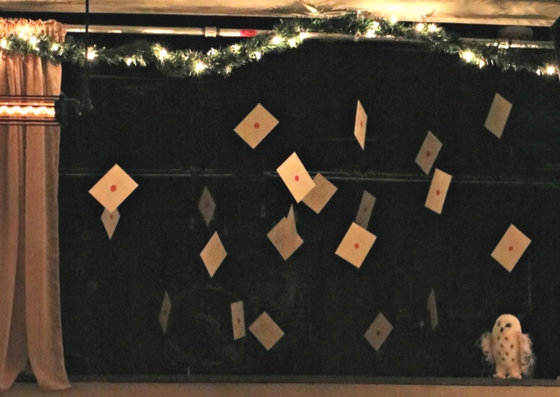 Hogwarts Letters in The Gluttonous Geek's recap of the 2016 Hogwarts Yule Dinner at Battle and Brew.